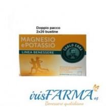 MAGNESIO E POTASSIO CARLO ERBA DOPPIO PACCO 40 BUSTINE