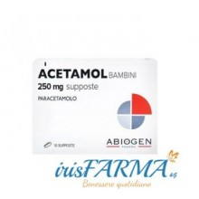 ACETAMOL SUPPOSTE BAMBINI 250MG
