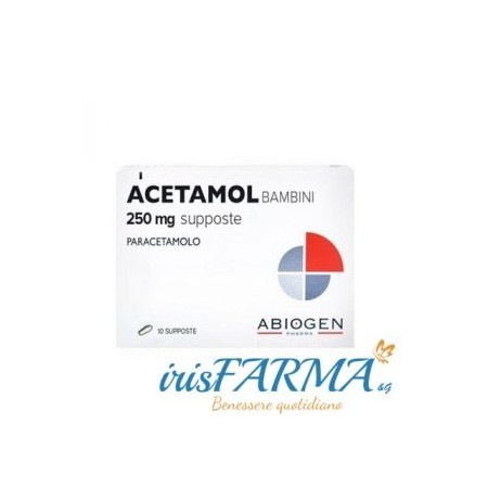 ACETAMOL SUPPOSITORIES FOR CHILDREN 250MG