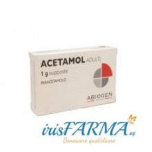 ACETAMOL SUPPOSTE ADULTI 1 GRAMMO 10 SUPPOSTE