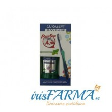 CURASEPT DAYCARE MINT STRONG PACK DUO LAVADO BUCAL Y CEPILLO DE DIENTES
