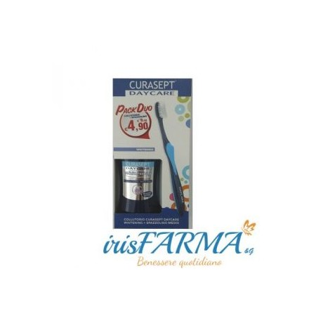 CURASEPT DAYCARE WHITENING PACK DUO LAVE-BOUCHE ET BROSSE À DENTS