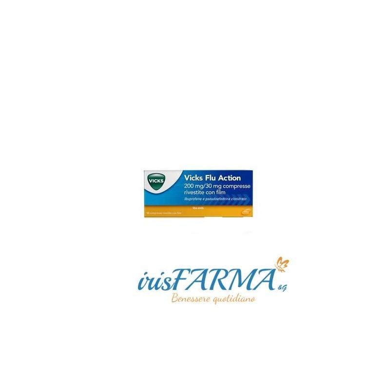 Tabletas de acción contra la gripe Vicks 12 tabletas