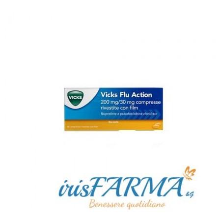 Vicks flu action tablets 12 tablets