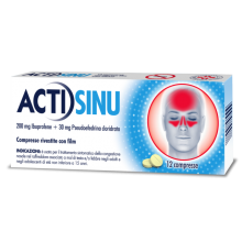 ACTISINU * 12CPR 200MG + 30MG
