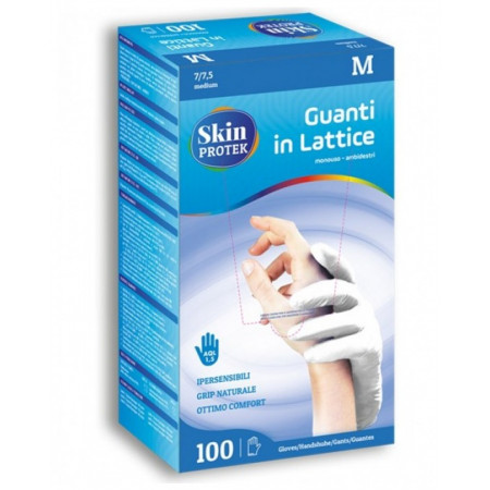 Disposable ambidextrous latex gloves size M