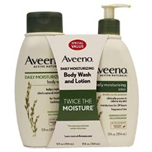 Aveeno bath shower + lavender body cream